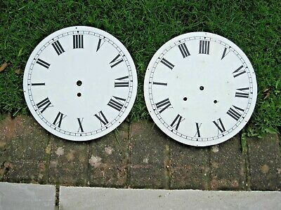 2 x Large metal clock dials/faces