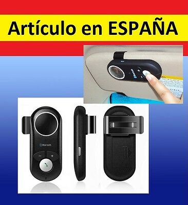 MANOS LIBRES bluetooth coche iphone 5 samsung iPod mp3 mp4 reproductor altavoz