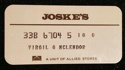 Joske's of Texas charge card♡Free Shipping♡cc288♡ Princess Size