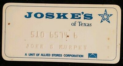 Joske's of Texas charge card♡Free Shipping♡cc287♡ Princess Size
