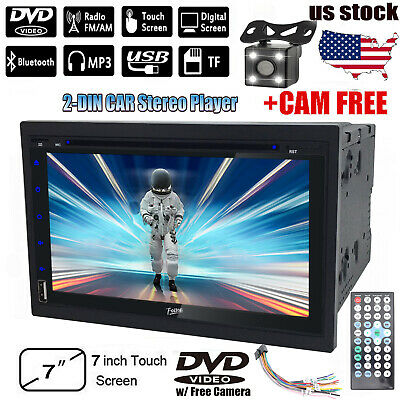 "Double Din 6.2""Car Stereo DVD CD MP3 Player HD In Dash Bluetooth TV Radio+Camera"