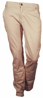 Trousers 5 Pockets Reporter Man Sand Tight Casual Chino Size 44 (30)