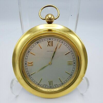 Vintage High Quality Diesinger's Swiss Made Brass Table Clock ~ 5""