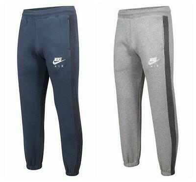 NIKE Mens Air Tracksuit Bottoms Sweat Pants JOGGERS Navy and Grey