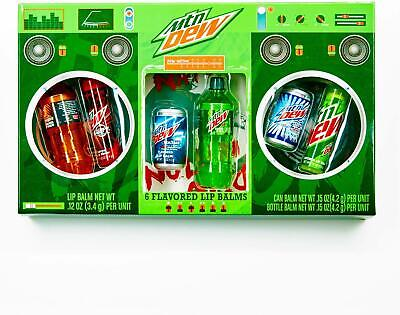 Mountain Dew Boom Box Lip Balm Gift Set NEW SEALED