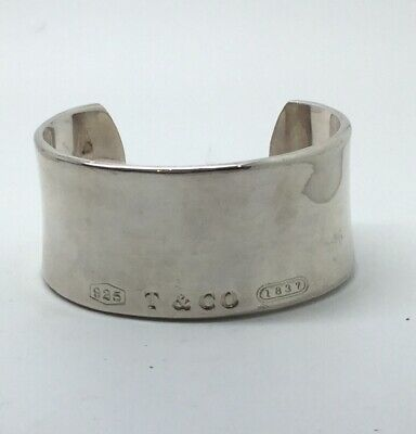 "Very Fine ""T & CO 1837"" STERLING SILVER CUFF Bracelet ""2001 TIFFANY & CO. 925"""