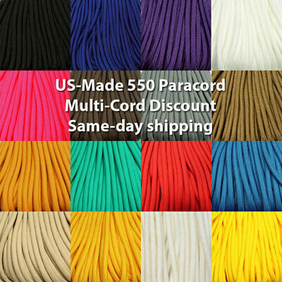 325-3 Paracord Electric Blue 100 FT USA MADE /& SELLER same day shipping