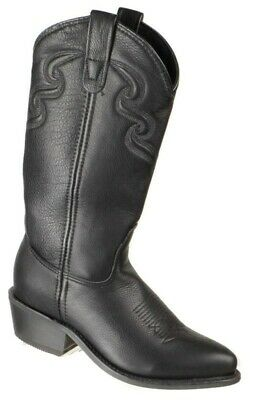 Double-H Boot Company Womens Western Cowboy Boots Size 6.5M Black Made in USA