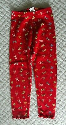 Gymboree 4 Girls Sugar and Spice Leggings Winter hat scarf mittens red holiday
