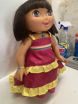"""Dora The Explorer Animated Interactive Doll Used Very Little- 14"""" Dora Toy"""