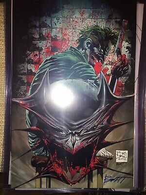 Framed Batman logo mash Joker Abstract 9X11 Print Limited Edition w//signed COA