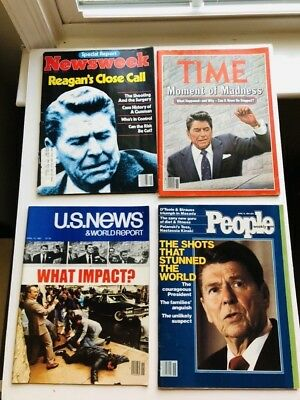 Ronald Reagan Shooting/Assassination Attempt MAGAZINES LOT 1981 collectible