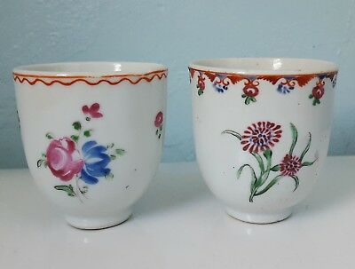 X-RARE Chinese Antique Pair of Wine Vodka Tea Cups Qing Dynasty 18th C. not Vase
