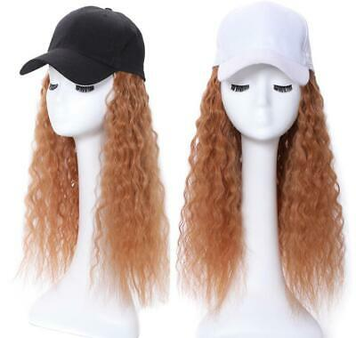 Baseball Hat with Wigs Hats Synthetic Long Yaki Hair Wigs with Cap Hat Women