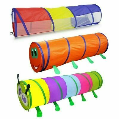Kids Animal Pop-Up Crawl Tunnel Tube Play Tent Toy Indoors/outdoors Garden Game