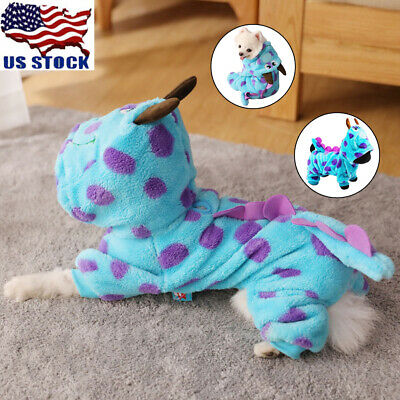 Pet Dog Cat Warm Soft Winter Sweater Hoodie Jumpsuit Apparel Cute Coat Clothes