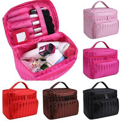 Lady Large Make Up Bag Vanity Case Cosmetic Nail Tech Storage Beauty Box Travel