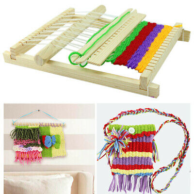 Mini Wooden Hand Knitting Toy Kids Children Traditional With Accessories Loom