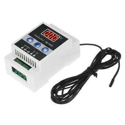 Guide Rail Digital Temperature Controller Thermostat Refrigeration Heating