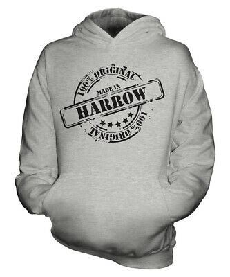 Made In Harrow Unisex Kids Hoodie Boys Girls Children Toddler Gift Christmas