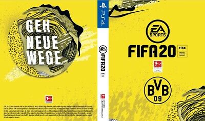 Borussia Dortmund Custom Fifa 20 Cover for PS4 Playstation 4 Game Sleeve Print