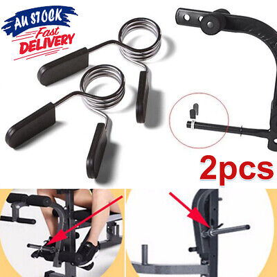 2X Weight Bar Collar Lock Clamp Spring Clips Dumbbell Gym 25mm Barbell