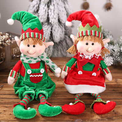 💗 Cute Christmas Plush Elf Elves Doll Toy Gifts Tree Ornaments Home Decor Kids