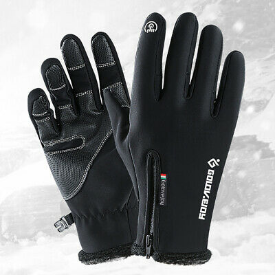 -10 ℃ Ski Gloves Zipper Winter Sports Thermal Touch Waterproof Snow Skiing Skate