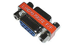 70072 Lindy 9-pin Mini Gender Changer 9-pin D 9-pin D Female connector / Female