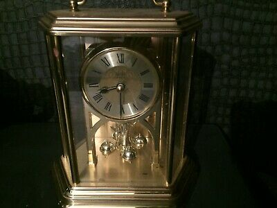 BEAUTIFUL VINTAGE ACCTIM HEXAGONAL MANTLE CLOCK  QUARTZ  West German