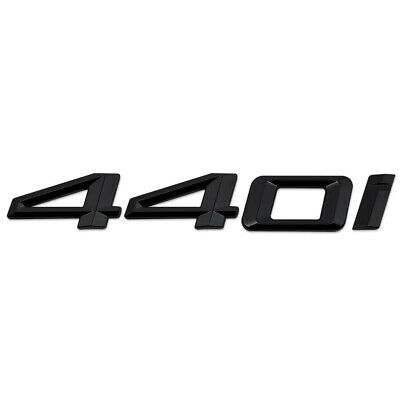 Matt Black 435i Lettering Numbers Letters Rear Boot Lid Trunk Badge Emblem Compatible For 4 Series F32 F33 F36 G22 G23 G26