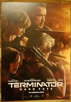 Terminator Dark Fate Official Odeon Movie Film Poster 2019 Arnold Schwarzenegger