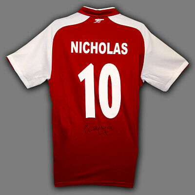 Charlie Nicholas Signed Arsenal  Replica Football Shirt