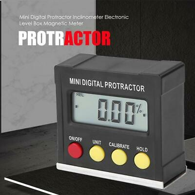 Mini Digital Protractor Inclinometer Angle Finder Bevel Level Box Metalworking