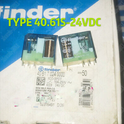 1PCS 40.61.7.024.0001 instead of 40.61S 24VDC Finder Relay 24V 16A 8PIN NEW