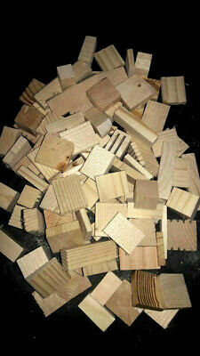 NEW!!! 100 Small to Med Natural Wood Assorted Blocks Bird Chews- Crafts- No Hole