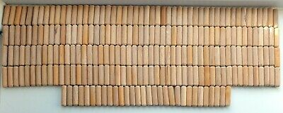 230  6mm x 30mm WOODEN DOWEL Small Hard Wood Pin Grooved Fluted Chamfered