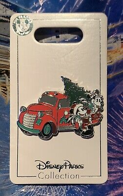Mickey and Minnie Red Pickup Truck 2019 Christmas Disney Pin IN HAND