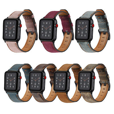 Genuine Leather Bracelet Strap for Apple iWatch Band Series 5 4 3 2 1 38/42/44mm