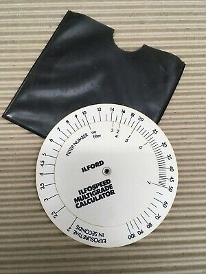 Vintage Ilford Development Processing Times Calculator