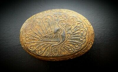 WESTERN ASIATIC PEACOCK DESIGN LARGE TRADE WEIGHT c 12th to 15th CENTURY