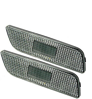 (Pair) Volvo S80 Bumper Side Marker Indicator Lenses Clear 1999-2006 (New)
