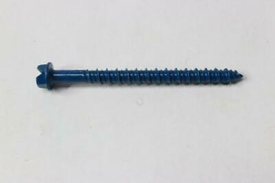 """100 Pack - Hillman 1/4 By 2-3/4"""" Hex Head Washer Concrete Screws With Bit 375296"""