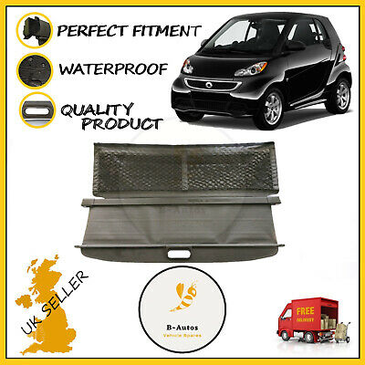 FITS SMART FORTWO 2007-2014 Rear Parcel Shelf load Cover Panel Luggage Black