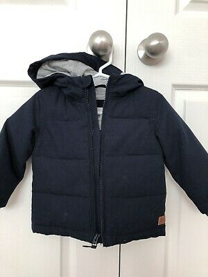 Country Road Baby Boy Navy Puffer 6-12 Months