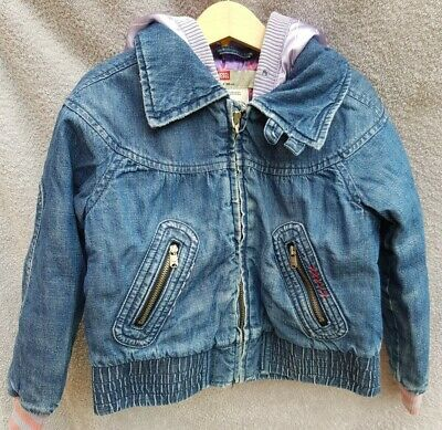 DIESEL 100% cotton (as per label) Girls Toddlers Jacket with Hood. Size age 4 y