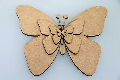 Wooden MDF Butterfly Wall Art Shapes Bunting Crafts Animal Decorate yourself