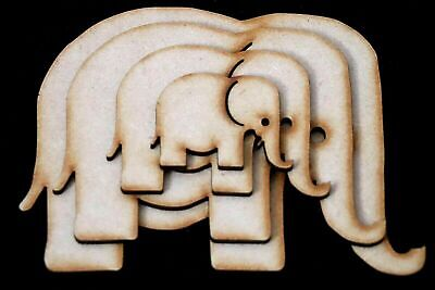 Wooden MDF Elephant XL Wall Art Shapes Bunting Crafts Animal Decorate yourself