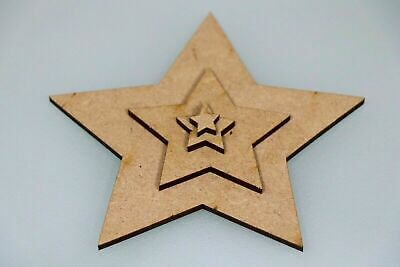 Wooden MDF Star Shape XL Wall Art Shapes Bunting Crafts Decorate yourself