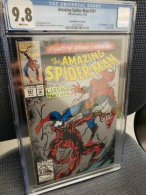 The Amazing Spider-Man #361 CGC 9.8 WP 2nd Print Variant (Apr 1992, Marvel)